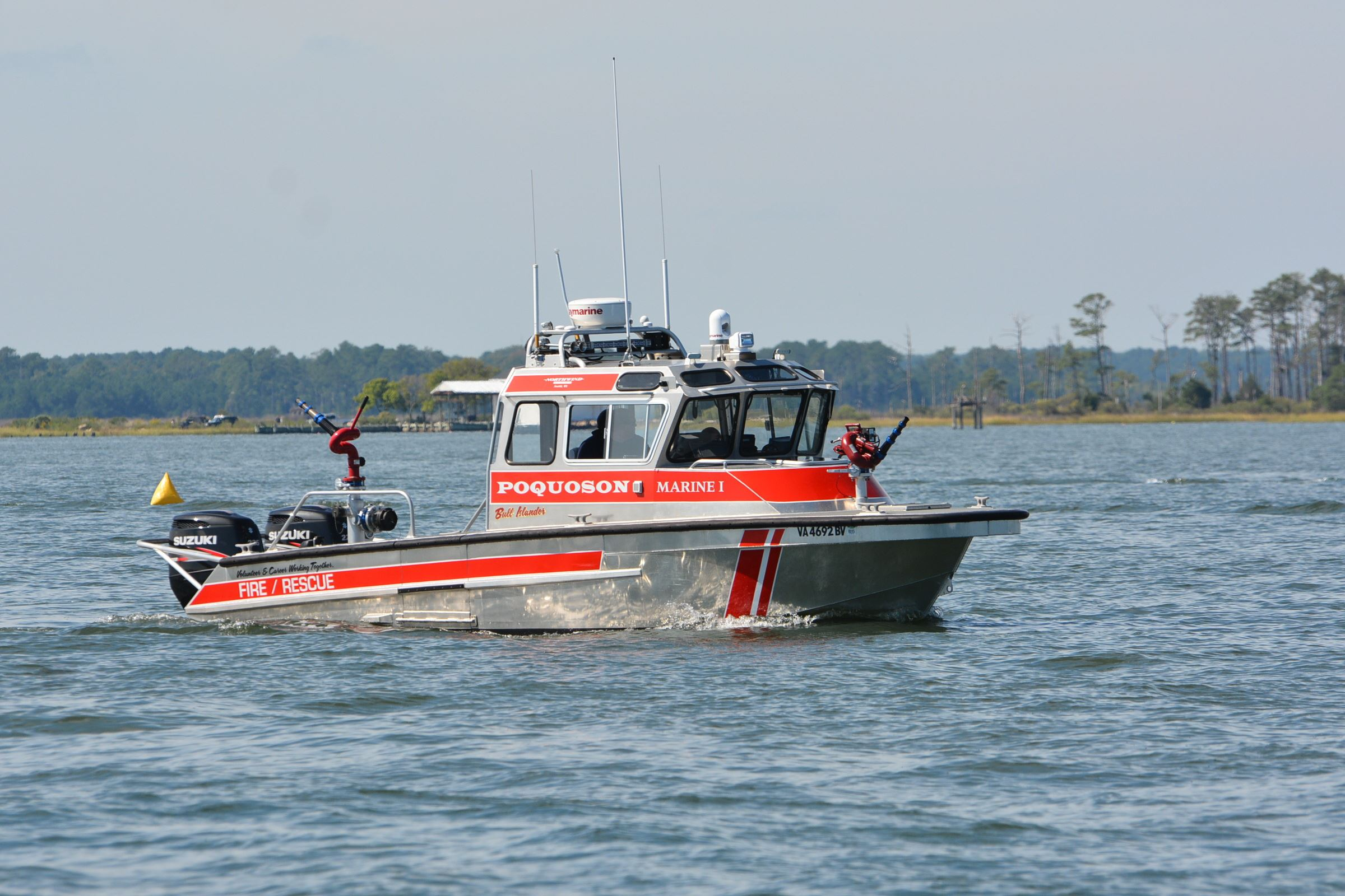 Marine 1 in water