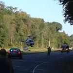 Medevac Helicopter taking off